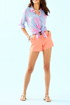 Lilly Pulitzer Seaview Button-Down Top - Alternate List Image