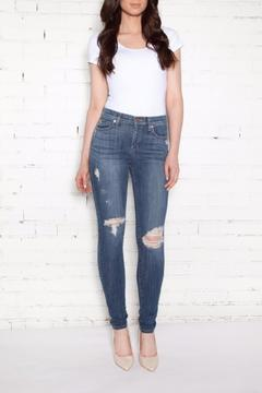Second Yoga Jeans Distressed High-Rise Skinnies - Product List Image