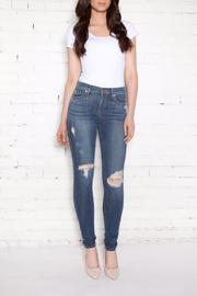 Second Yoga Jeans Distressed High-Rise Skinnies - Front cropped