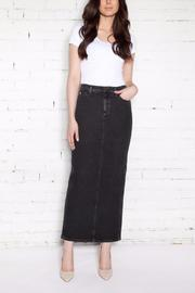 Second Yoga Jeans Maxi Yoga Jean Skirt - Front cropped