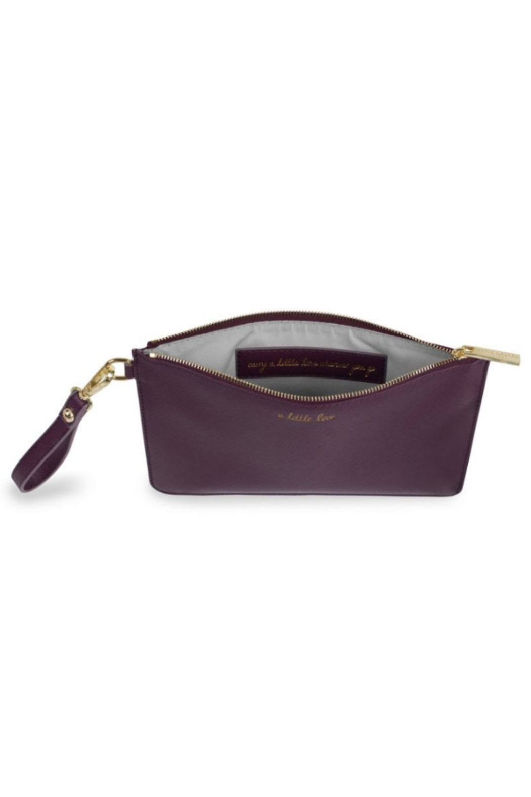 Katie Loxton SECRET MESSAGE POUCH | A LITTLE LOVE, CARRY A LITTLE LOVE WITH YOU WHEREVER YOU - Front Full Image