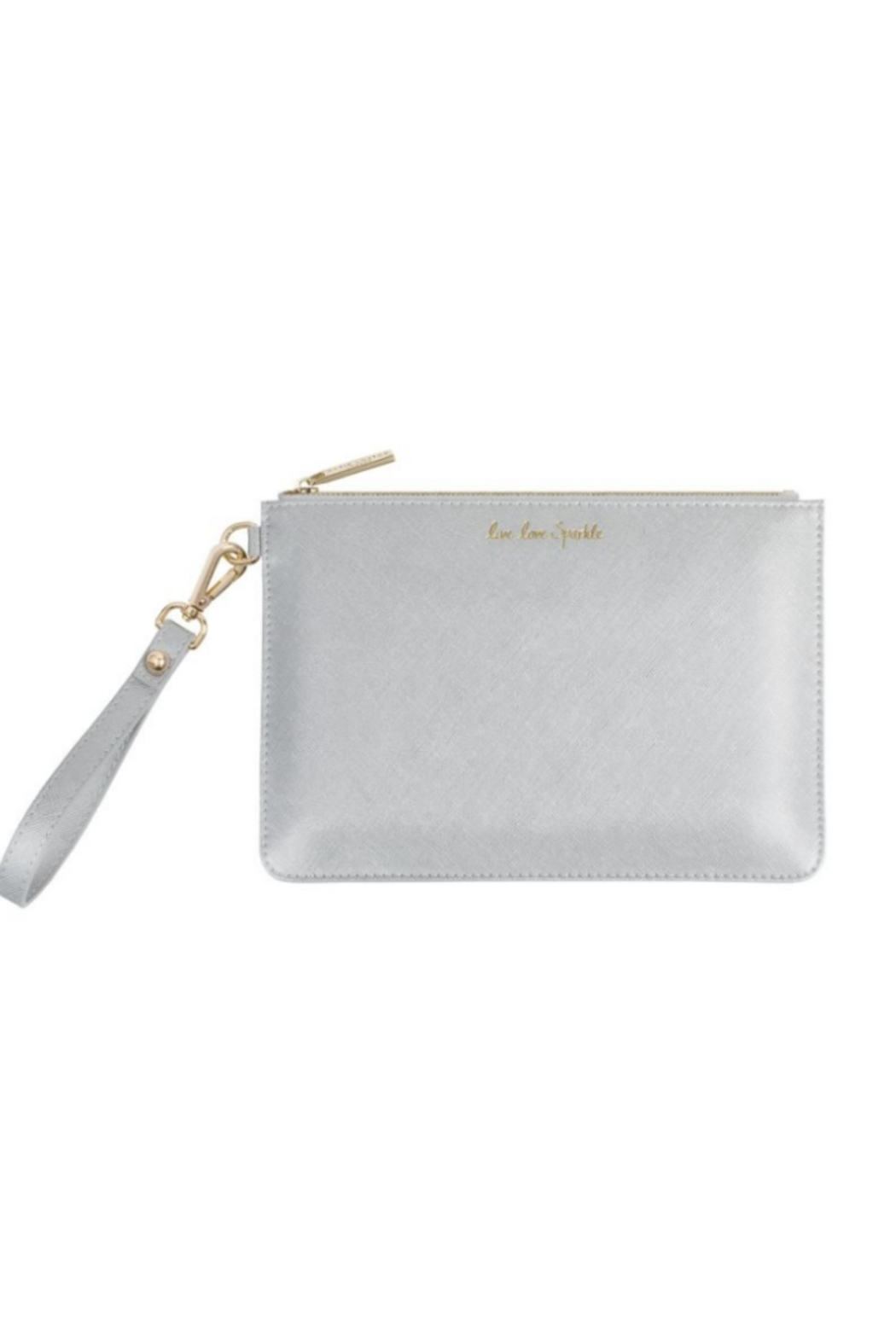 Katie Loxton SECRET MESSAGE POUCH | LIVE LOVE SPARKLE, A REMINDER TO LIVE LOVE SPARKLE EVERY DAY - Front Cropped Image