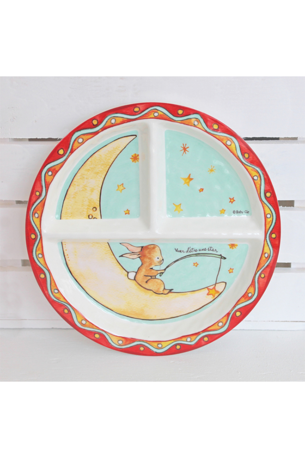 Baby Cie Section Plate - Wish on a Star - Main Image