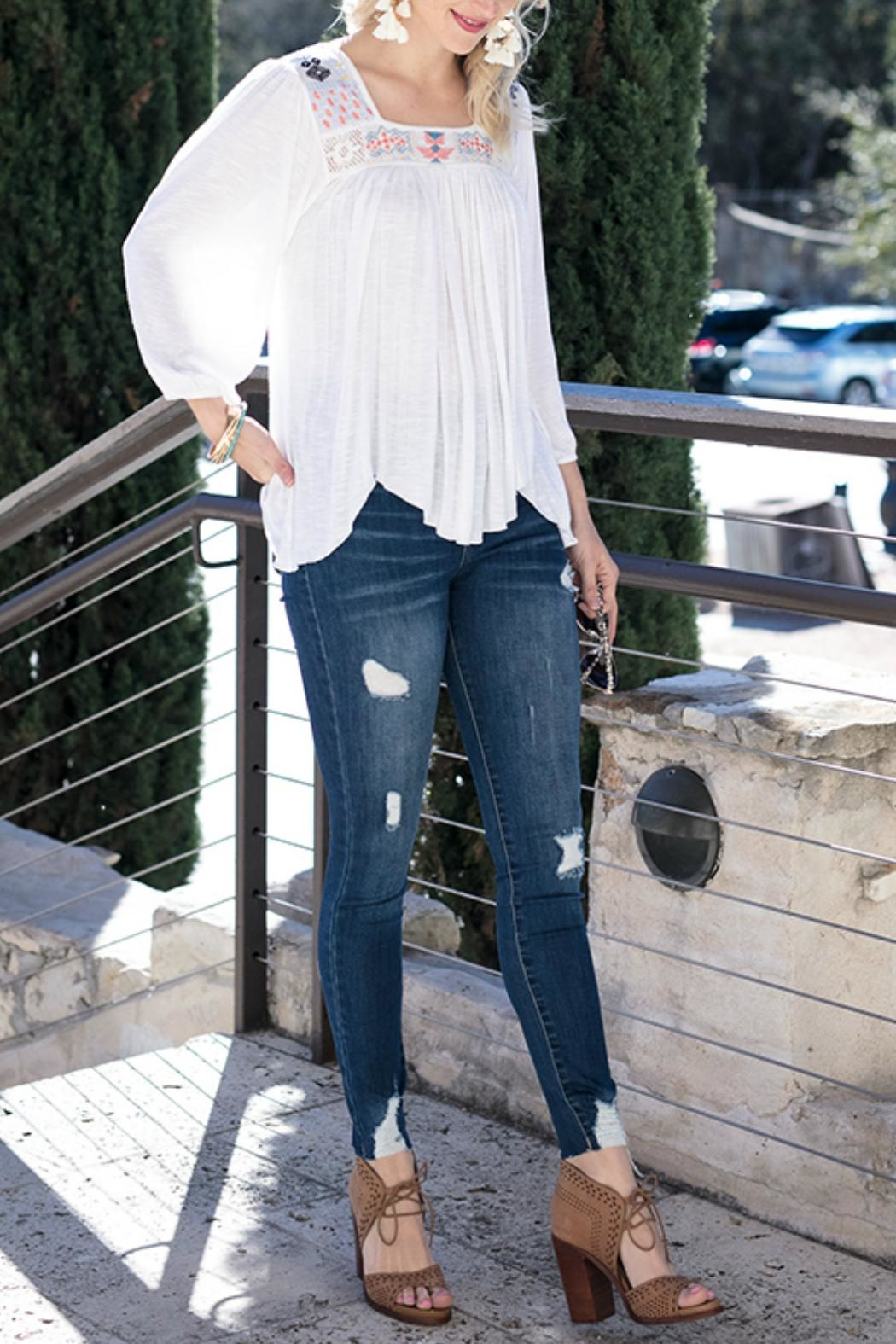 Grace & Lace Sedona Embroidered Top - Main Image