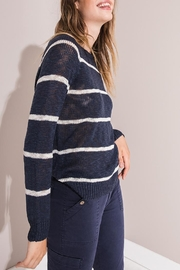 rag poets Sedona Striped Sweater - Front cropped