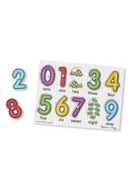 Melissa and Doug See Inside Numbers Peg Puzzle - Product Mini Image