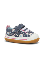 See Kai Run  First Walker Stevie II in Chambray/Rainbows - Product Mini Image