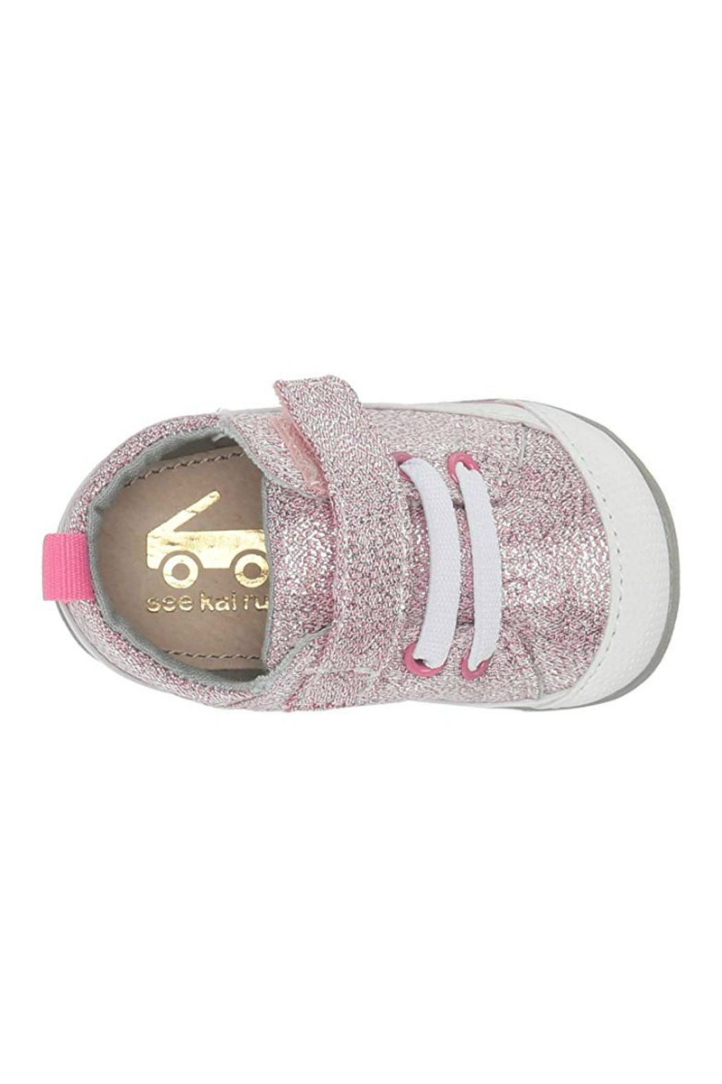 See Kai Run  Stevie II Infant in Pink Glitter - Back Cropped Image