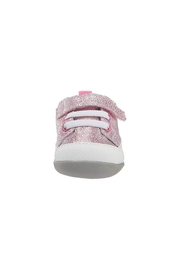 See Kai Run  Stevie II Infant in Pink Glitter - Front full body