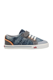 See Kai Run  Tanner in Washed Denim - Front cropped
