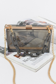 Bag Boutique See Through You Clutch - Front cropped