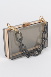 Bag Boutique See Through You Clutch - Side cropped