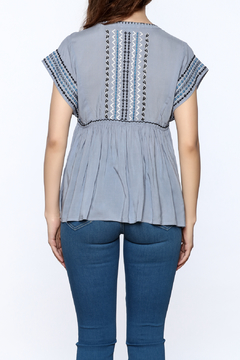 See U Soon Embroidered Chambray Top - Alternate List Image