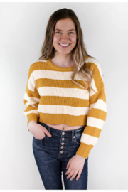The Korner See You Soon Striped Sweater - Product Mini Image
