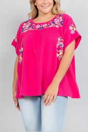 See & Be Seen Floral Embroidery Top - Product Mini Image