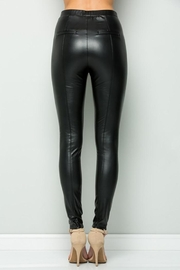 See and Be Seen Faux Leather Super Stretch Pants - Side cropped