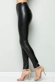 See and Be Seen Faux Leather Super Stretch Pants - Back cropped