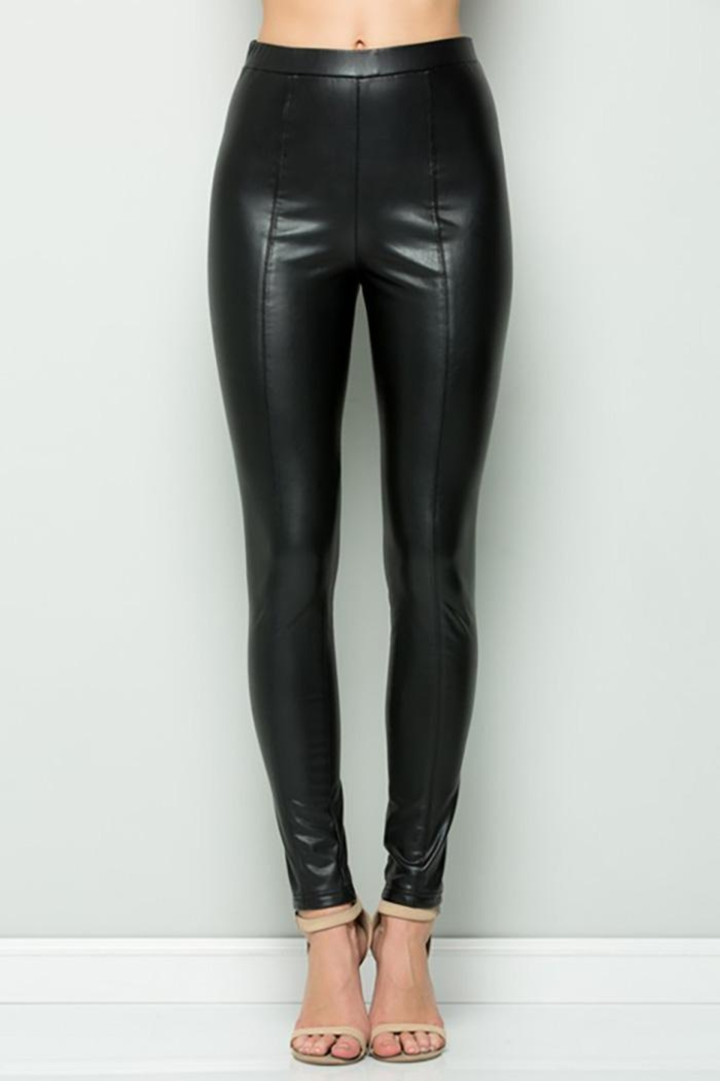 See and Be Seen Faux Leather Super Stretch Pants - Main Image