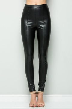 See and Be Seen Faux Leather Super Stretch Pants - Product List Image