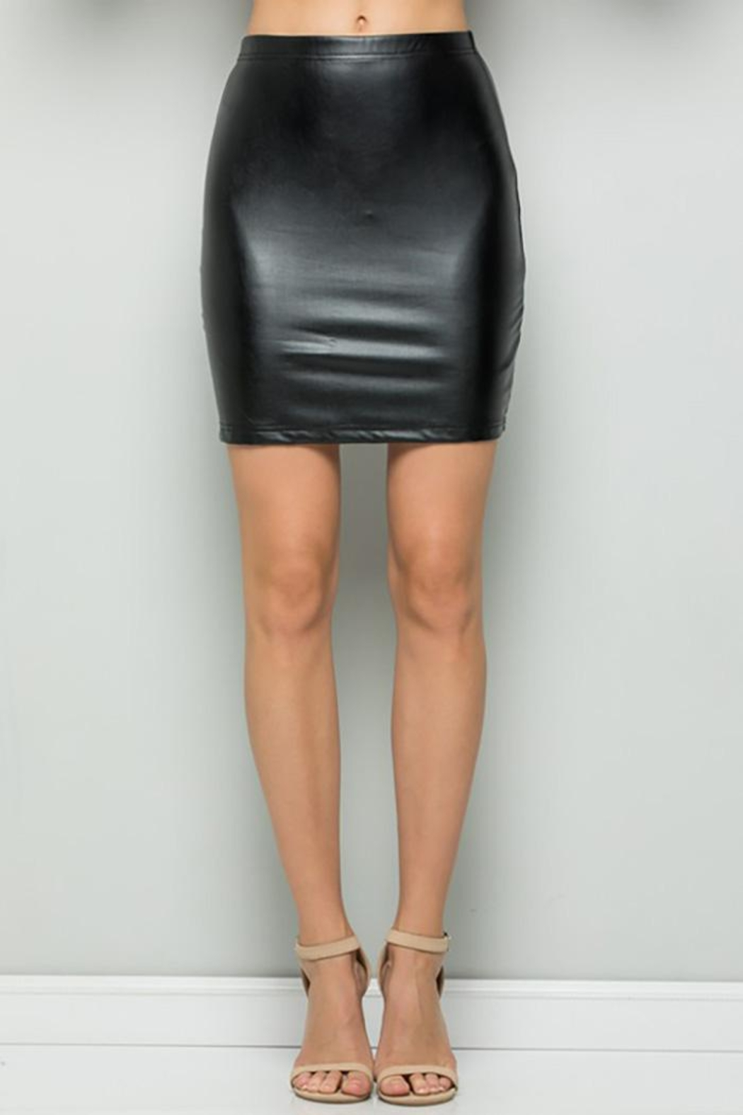 See and Be Seen Faux Leather Super Stretch Skirts - Main Image