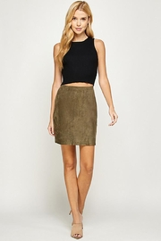 See and Be Seen Faux Suede Mini Skirt - Product Mini Image