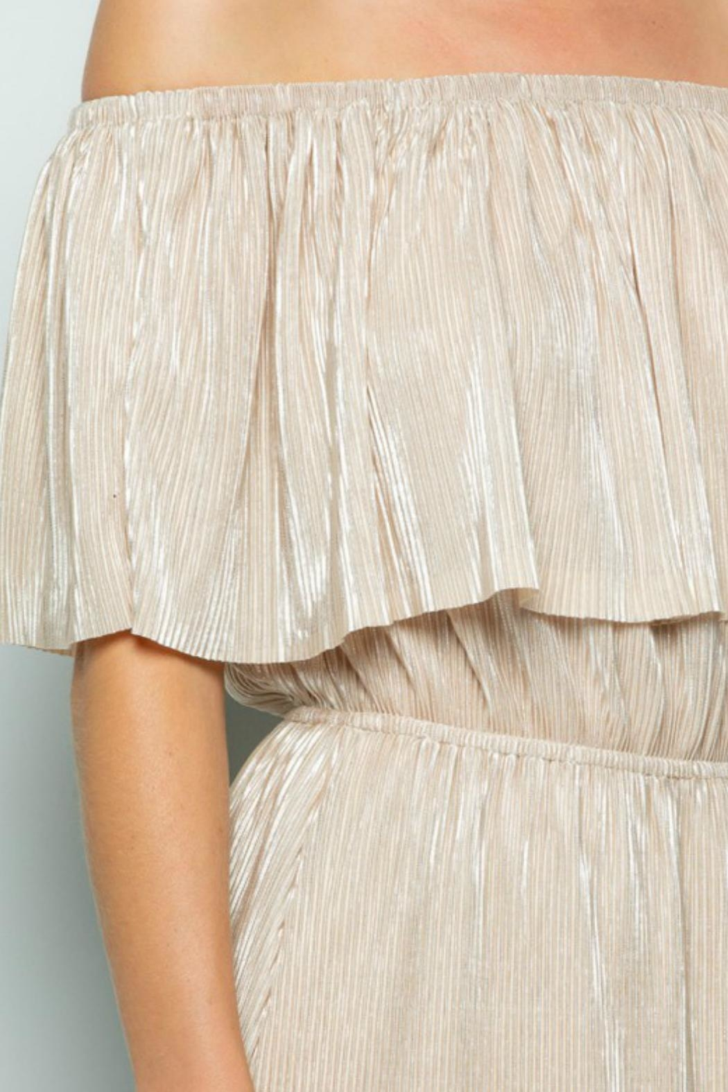 See and Be Seen Metallic Maxi Dress - Back Cropped Image
