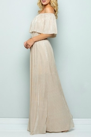 See and Be Seen Metallic Maxi Dress - Side cropped