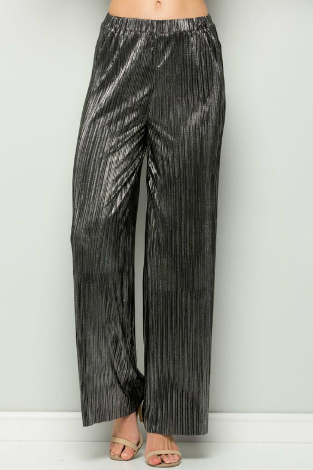 See and Be Seen Metallic Wide Pant - Main Image