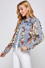 See and Be Seen Paisley Patch Print Denim Jacket - Other
