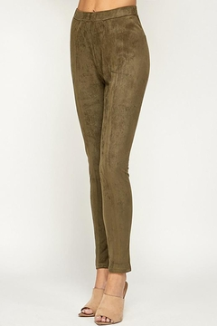 See and Be Seen Super Stretch Comfortable Suede Leggings Pants - Alternate List Image
