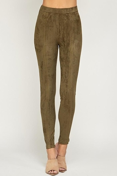 See and Be Seen Super Stretch Comfortable Suede Leggings Pants - Product List Image