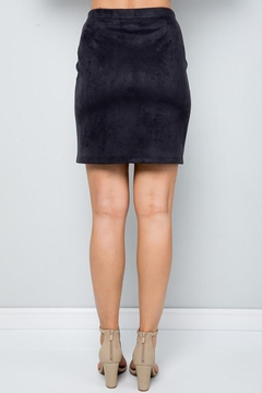 See and Be Seen Super Stretch Faux Suede Skirt - Alternate List Image