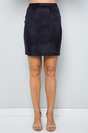 See and Be Seen Super Stretch Faux Suede Skirt - Front cropped