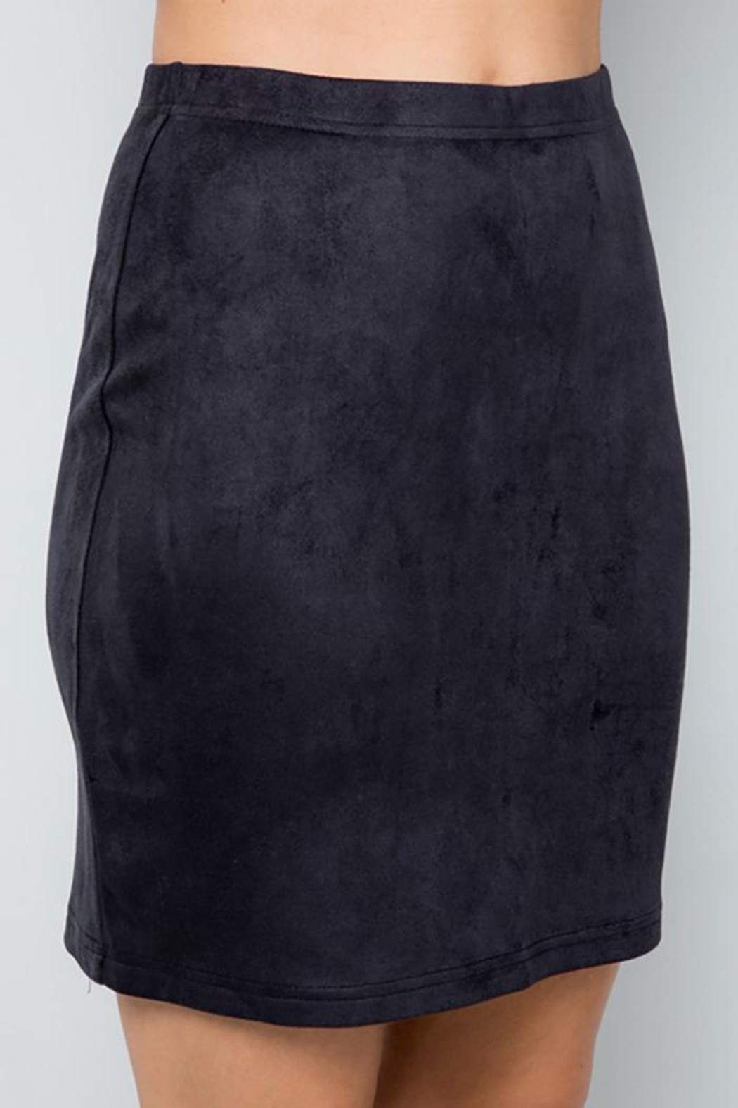 See and Be Seen Super Stretch Faux Suede Skirt - Side Cropped Image