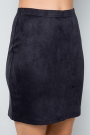 See and Be Seen Super Stretch Faux Suede Skirt - Side cropped