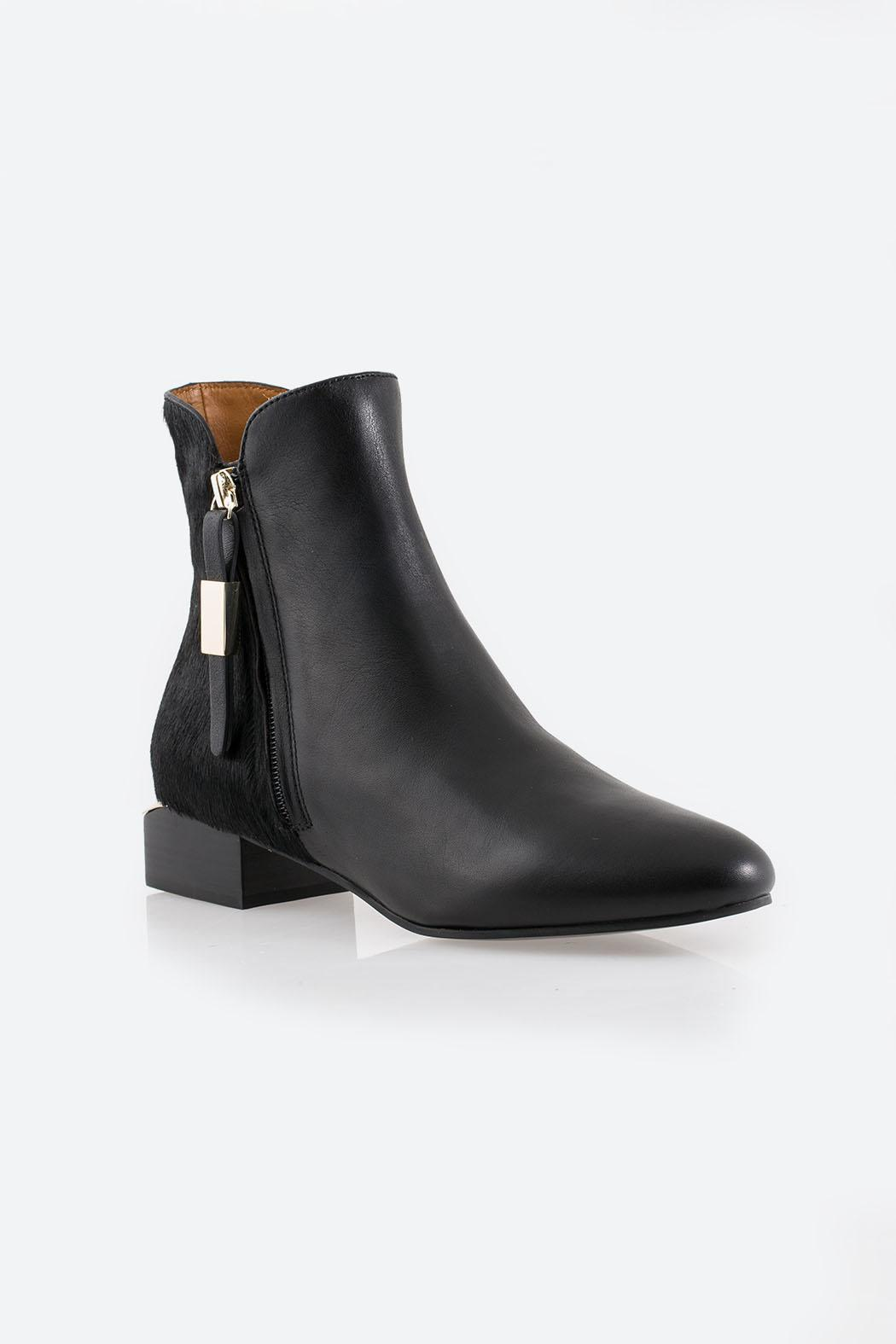 See By Chloe Black Ankle Boot - Side Cropped Image