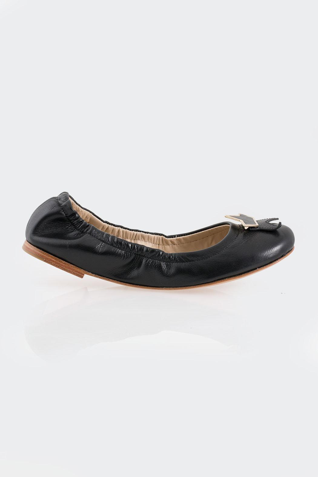 See By Chloe Black Star Flats - Front Full Image