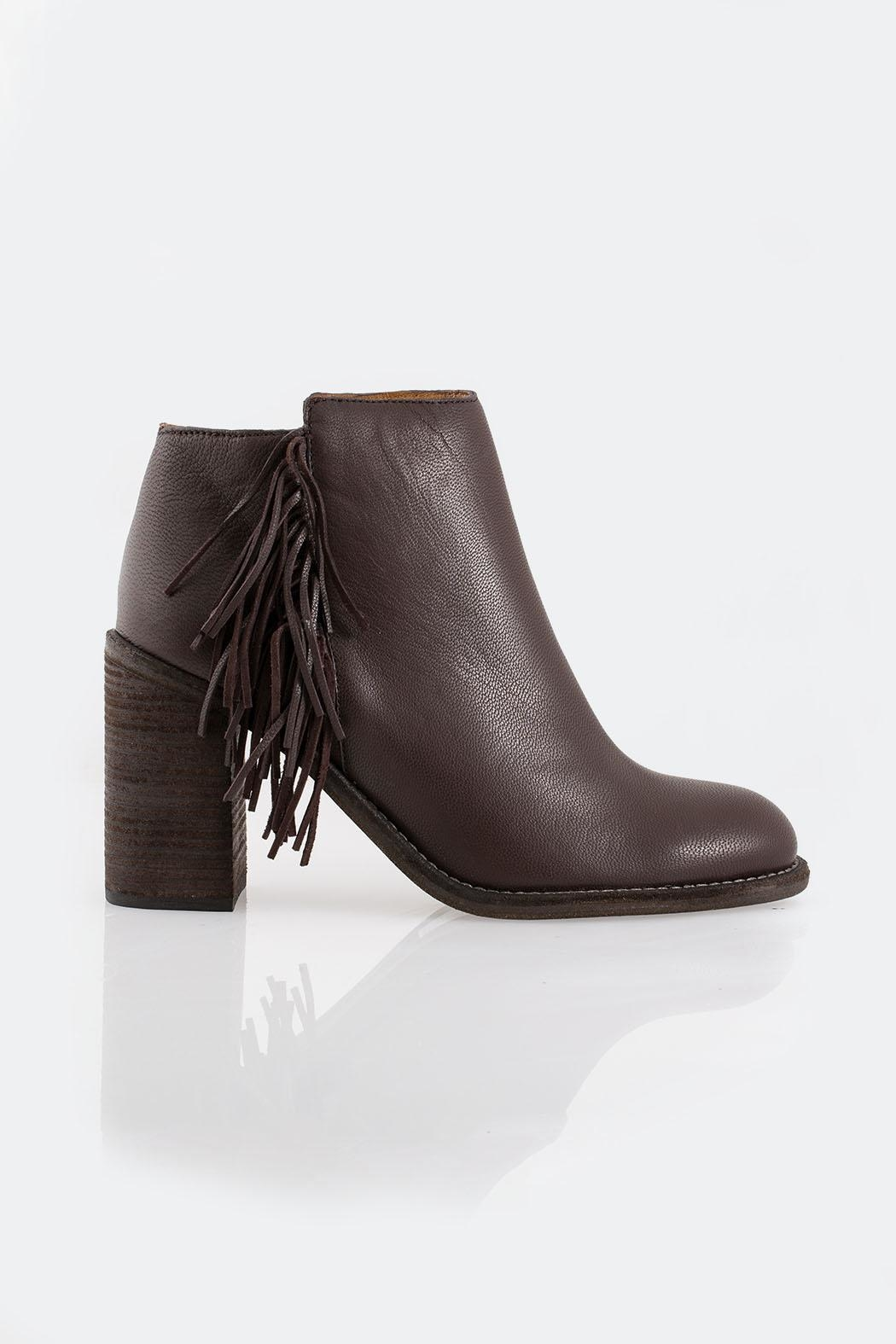See By Chloe Brown Fringed Boot - Front Full Image