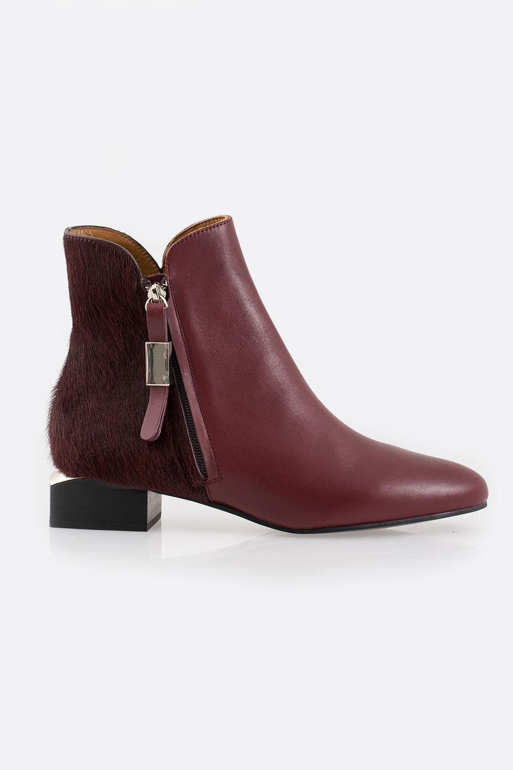 See By Chloe Burgundy Ankle Boot - Front Full Image