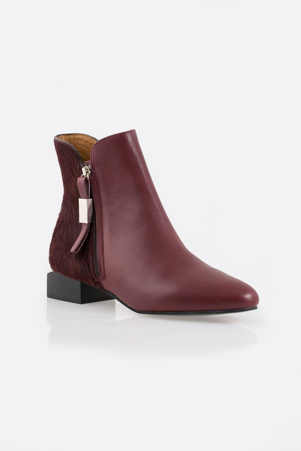 See By Chloe Burgundy Ankle Boot - Side Cropped Image