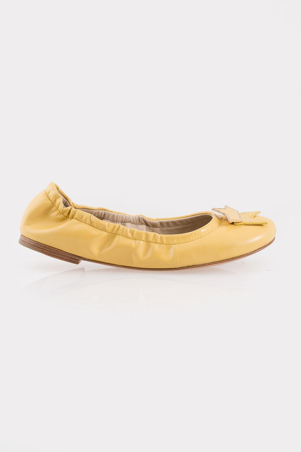 See By Chloe Yellow Star Flats - Front Full Image