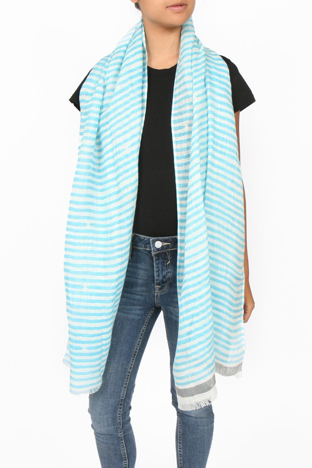 SEE Design Linen Scarf - Front Full Image