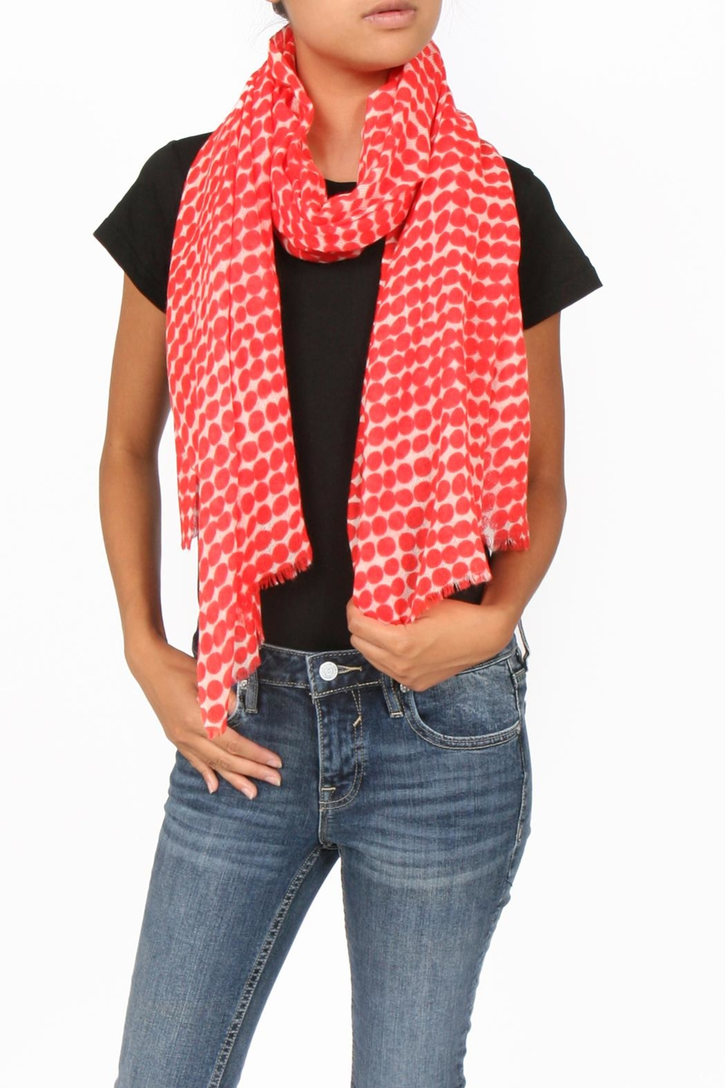 SEE Design Wool Graphic Scarf - Main Image