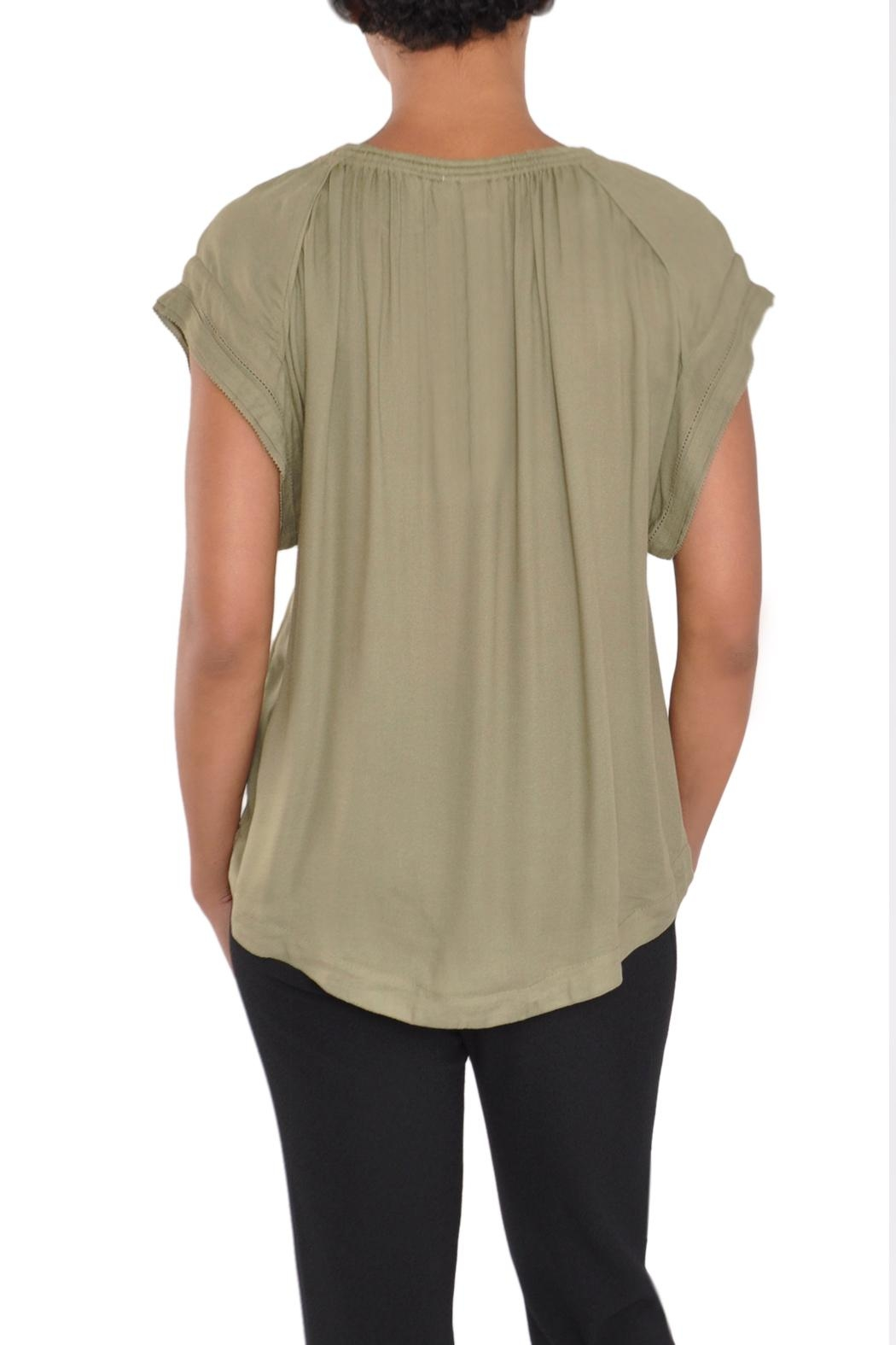 See U Soon Green Blouse Top - Side Cropped Image