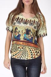 See You Monday Egypt Mix Print Top - Product Mini Image
