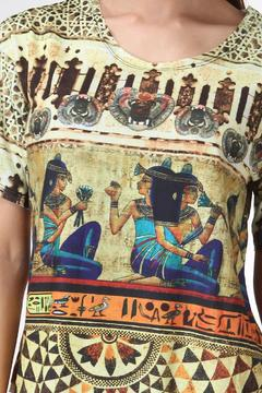 See You Monday Egypt Mix Print Top - Alternate List Image