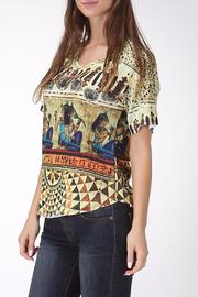 See You Monday Egypt Mix Print Top - Front full body