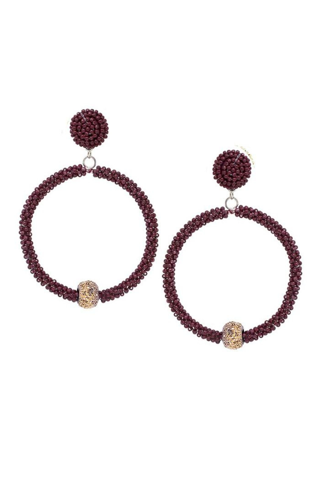 Lets Accessorize Seed Bead Hoops - Main Image