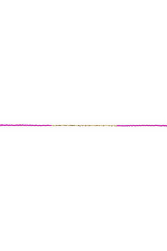 Jane Marie Seed Bead Necklace - Hot Pink/Gold - Alternate List Image
