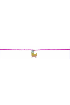 Jane Marie Seed Bead Necklace - Hot Pink With Llama Charm - Alternate List Image